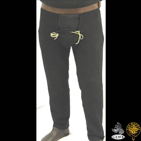 15th Century Pants Black, XL