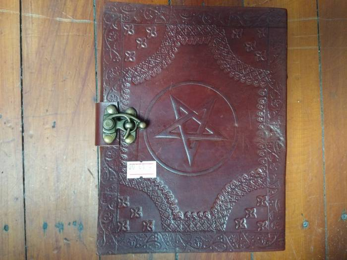 Leather Journal with Pentagram